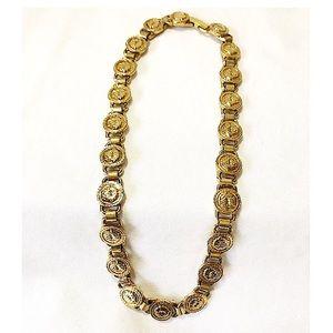 Authentic Vintage Versace Medusa Medallion Choker